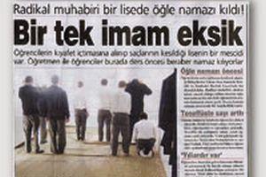 İstanbul'da bir lisede namaz kılındığı haberi yalanlandı.15772