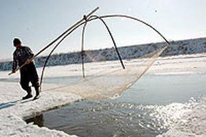 Kızılırmak'ta eskimo usulü balık avı.13332