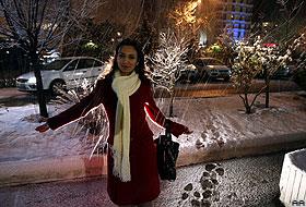 İzmir'e yılın ilk karı yağdı.26389