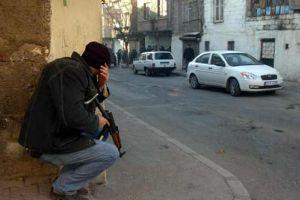 Silopi'de öğrenciler ile polis çatıştı.12079
