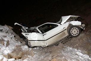Yoldan çıkan araç uçuruma düştü.49921