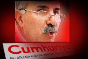 Cumhuriyet Gazetesi, PKK'yı savunan yazarla el sıkıştı.9533
