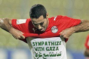 Mısırlı futbolcunun mesajı İsraillileri çılgına çevirecek.13972