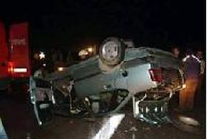 Otomobil takla attı: 1 yaralı.10657