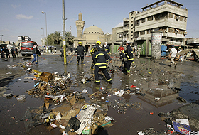 Bağdat'ta BBC bürosuna havan topu isabet etti.79370