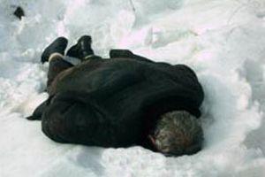 Giresun'da 1 kişi donarak öldü.9241