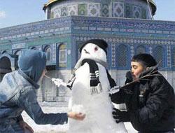 Kudüs'e yılın ikinci kar yağdı.16245