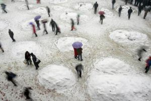 Çin'de son 50 yılın en yoğun kar yağışı.25347
