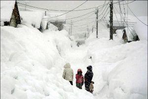 Japonya'da kara kış: 173 yaralı.12055