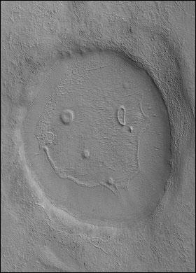 Mars'ta gülen bir yüz var.29714