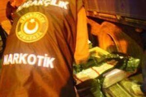 Bolu'da 90 kilogram esrar ele geçirildi.12734