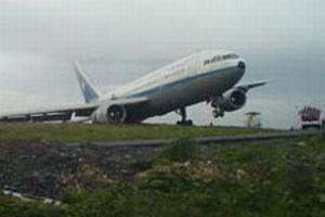 Atatürk Havalimanı'nda yolcu uçağı tehlike atlattı.8672
