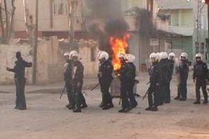 Diyarbakır'da izinsiz gösteri.11780