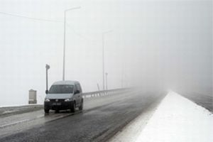 Afyon'da yoğun sis ulaşımı etkiliyor.5570