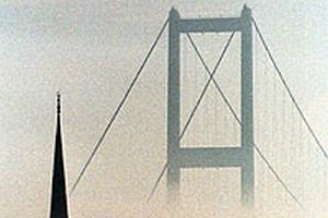 Sisli havada İstanbul manzarası.11946