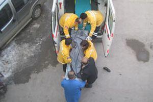 Fırlayan kamyon tekeri bir kadını öldürdü.11446