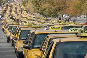 Taksim'de taksiciler g�n� kutland�.18794