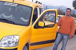 Bursa'da taksicilerin eylemi.15075