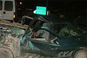 Alkollü kadının 3'üncü kazası.13049