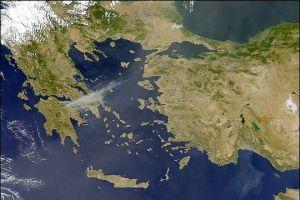 Yunanistan'� k�zd�ran Ege haritas�  .16790