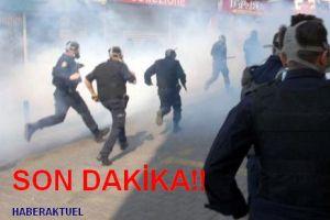 Taksim'de gösteri yapan DTP'lilerle polis çatıştı.11331