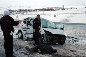 Kars'ta trafik kazası: 1 ölü.14024