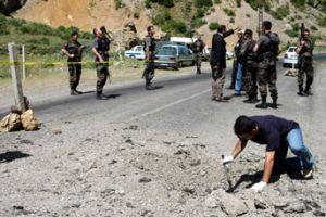 Mardin'de patlayıcı düzenek imha edildi.18506