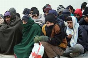 Yunanistan'da 34 kaçak göçmen yakalandı.14515