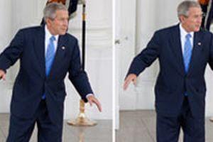 Bush, Beyaz Saray'�n merdivenlerinde dans etti.10018