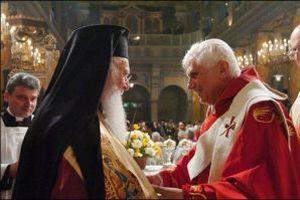 Bartholomeos Vatikan'da Papa ile görüştü.14889