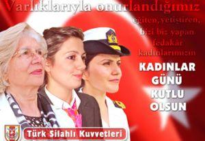 G.Kurmay Başkanlığı, Dünya Kadınlar Günü'nü kutladı.22365
