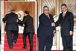 Irak Cumhurbaşkanı Celal Talabani, Köşk'e geldi.16856