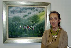 İki Türk ressamın eserleri New York'ta.12857