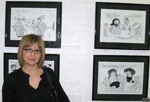 Karikatürist Ramize Erer'in Paris sergisi.13260