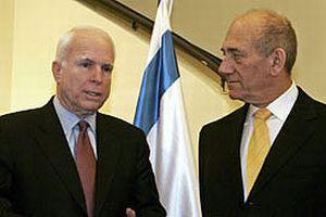 Cumhuriyetçi aday McCain İsrail'de.11778