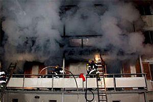 Eskişehir'de öğrenci evinde yangın.13650