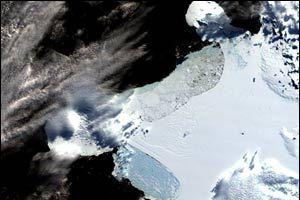 Antarktika'dan dev bir parça ayrıldı.14725