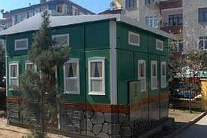 Trafolar Türk evleri motifine büründü.16141
