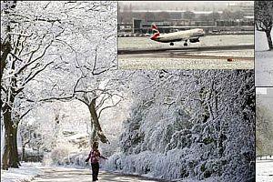 Londralılara baharda kar sürprizi.27035