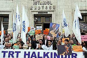 Haber-Sen'den TRT yasa tasarısına protesto.27044