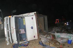 Afyon'da kamyon devrildi, 9 kişi hayatını kaybetti.10071