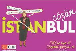 CHP yerel seçim afişlerinde başörtüsünü kullandı.13937