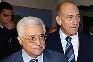 Olmert ve Abbas bir araya geldiler.13086