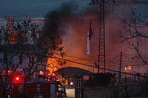 Nestle'ye ait fabrika cayır cayır yandı.13563