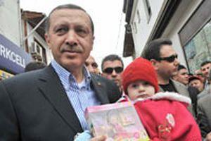 Çocuklar Erdoğan'la bayramlaştı.13593