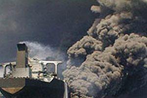 Marmara Pendik açıklarında kuru yük gemisi yanıyor.11648