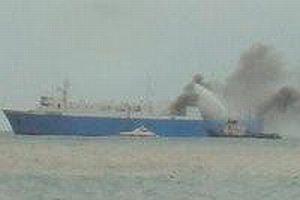 700 yolculu gemide yangın.6298