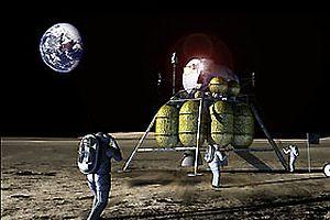 Ay yüzeyinde istasyon projesi.15035