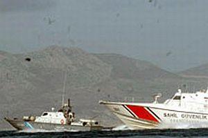 Yunan gemisi Türk askeri gemisini taciz etti.9152