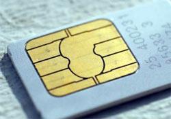 Kilitli telefonlar� k�ran SIM kart.10737